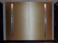 Au coeur de ce salon, Incrustation de frise en mosaïque de feuille d'or.