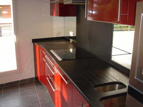 Plan De Travail Cuisine Granit Noir. Great Granit Plan De Travail ...