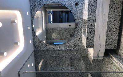 Salle de bains en Terrazzo